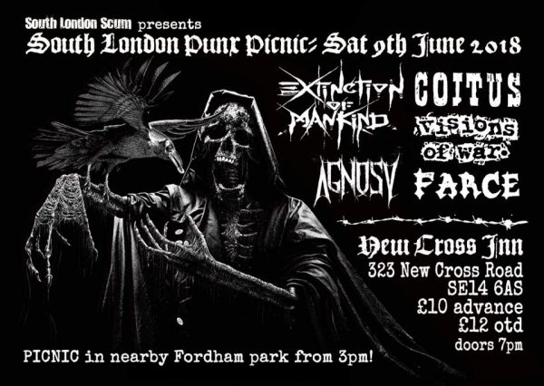 South London Punx Picnic 2018 at New Cross Inn promotional image