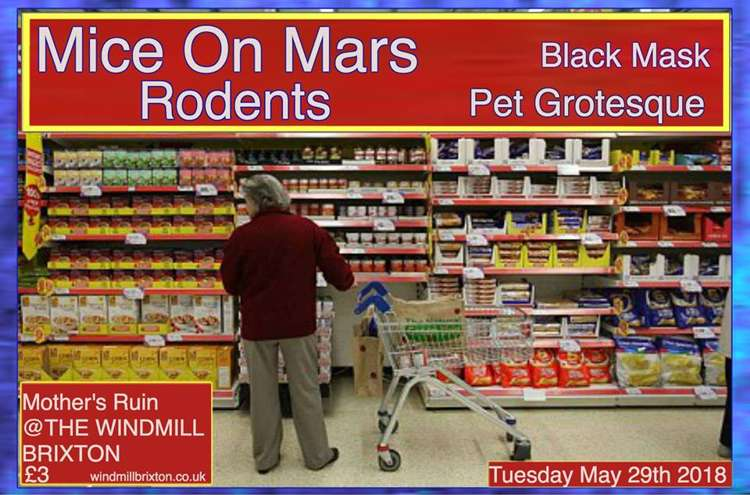 Mice On Mars, Rodents, Black Mask, Pet Grotesque  at Windmill Brixton promotional image