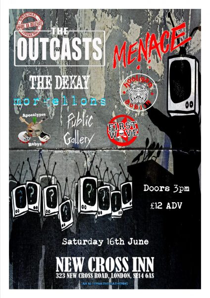 The Outcasts / Menace / The Dekay / Hooligan (Dub) + More at New Cross Inn promotional image