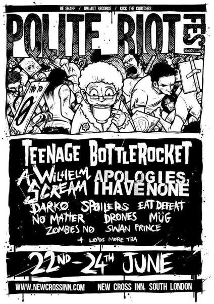 Polite Riot Festival 2018 at New Cross Inn promotional image