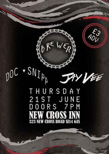 Brewer / Doc Snipp / Jay Vee +more TBA at New Cross Inn promotional image