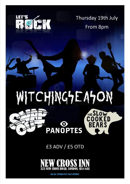 Witchingseason / Snap Out / Slow Cooked Bears / Panoptes at New Cross Inn promotional image