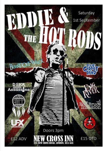 Eddie & The Hot Rods at New Cross Inn promotional image
