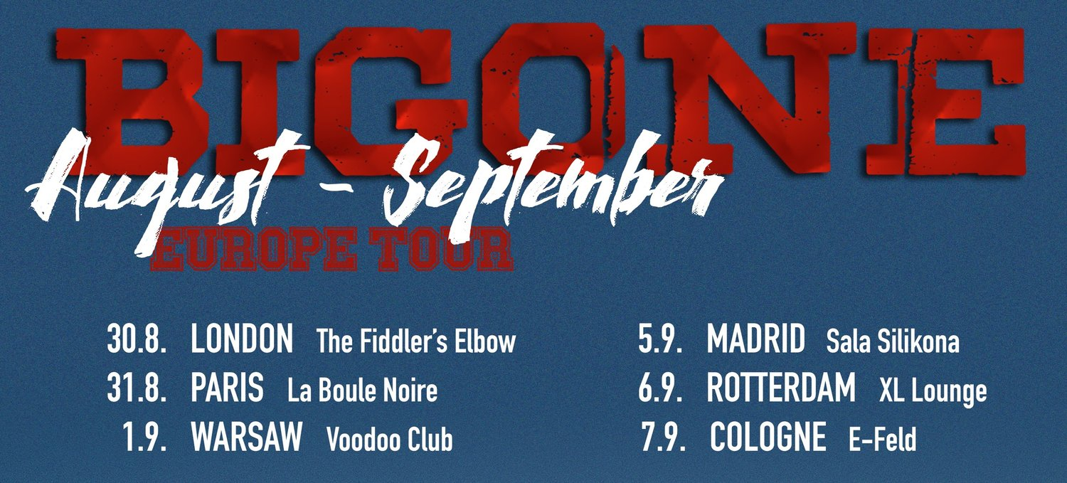 Bigone Europe Tour in London at The Fiddler's Elbow promotional image
