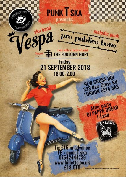 Vespa at New Cross Inn promotional image