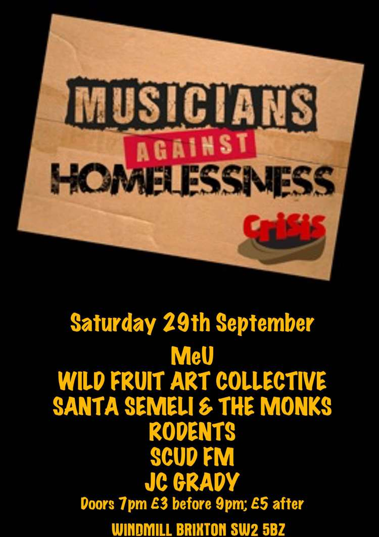 Musicians Against Homelessness minifest  at Windmill Brixton promotional image