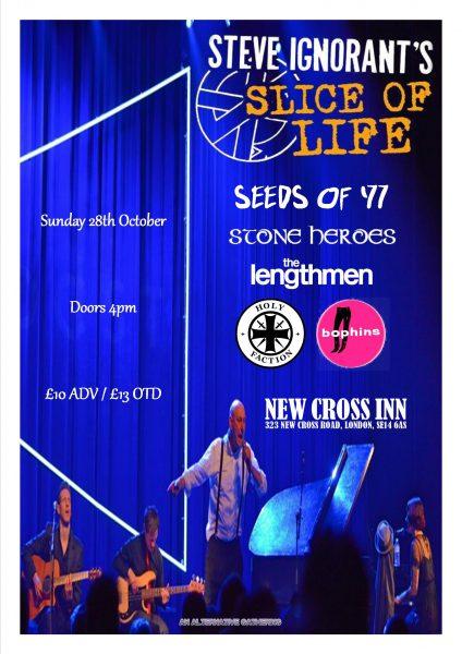 Steve Ignorant's Slice of Life at New Cross Inn promotional image