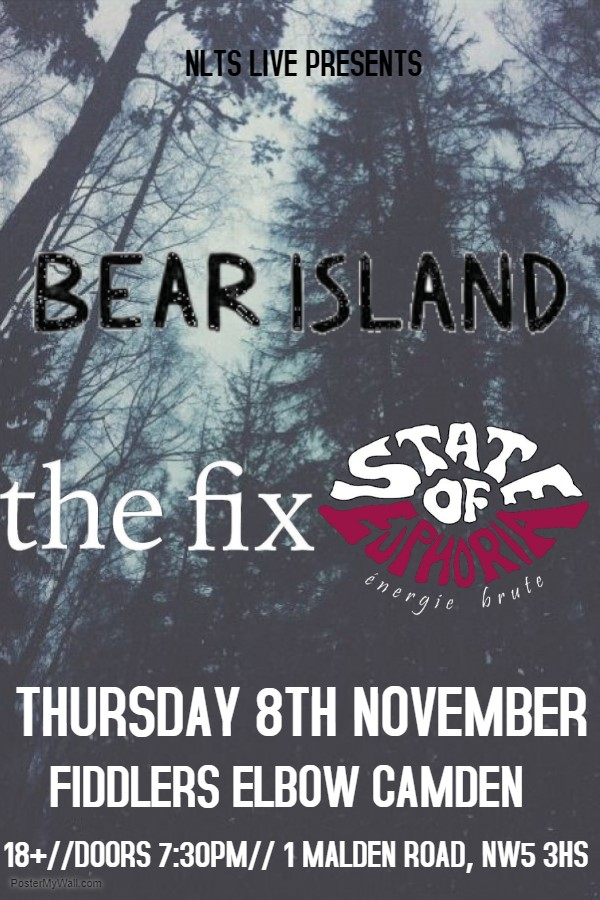 NLTS Presents -State of Euphoria + The Fix + Bear Island at The Fiddler's Elbow promotional image