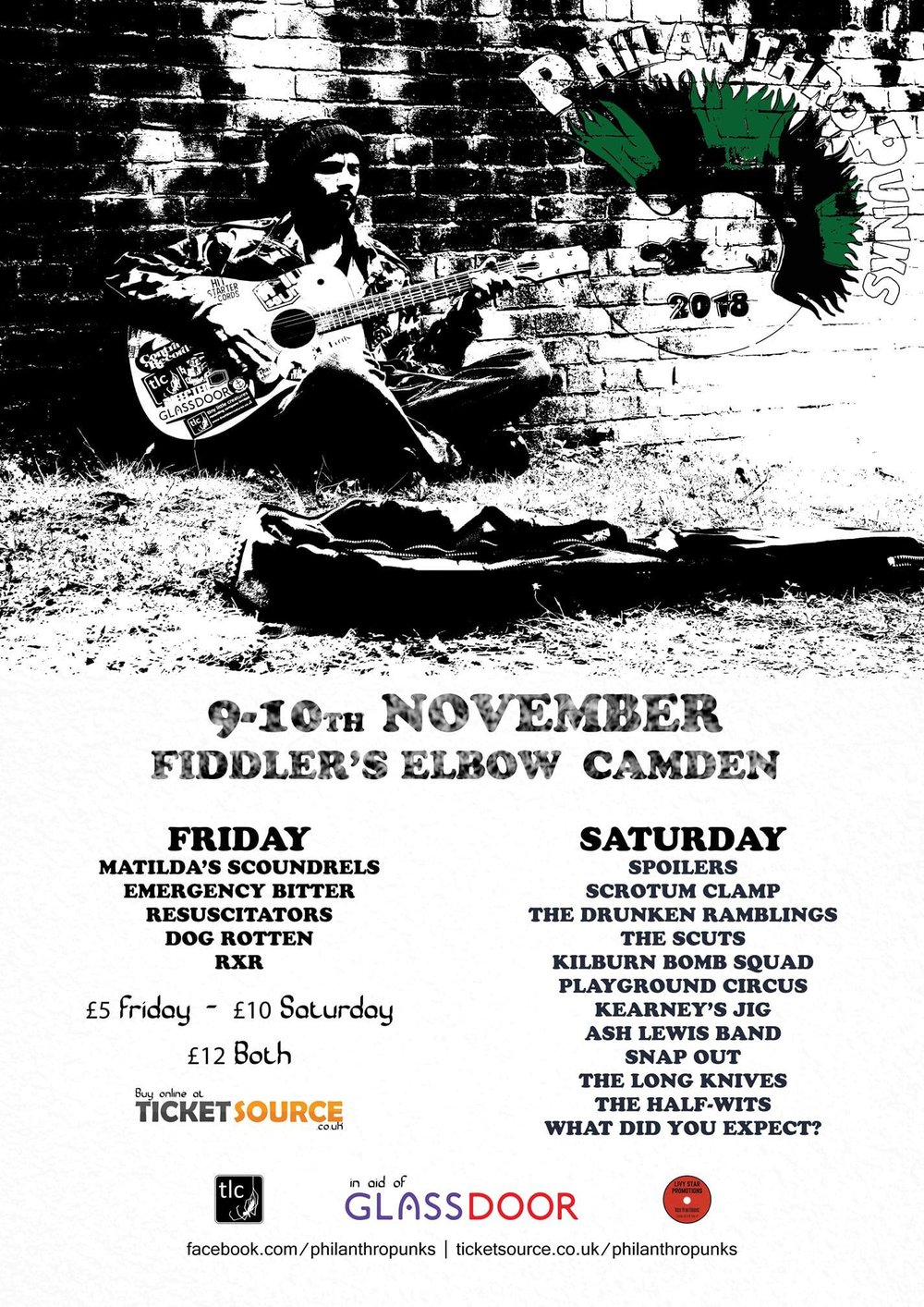 Glass Door Homeless Charity - PUNK at The Fiddler's Elbow promotional image