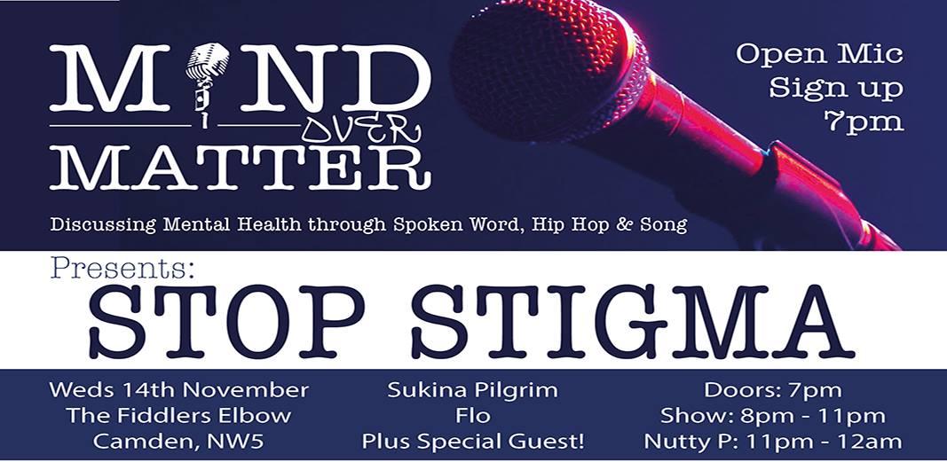 Mind Over Matter: Stop Stigma at The Fiddler's Elbow promotional image