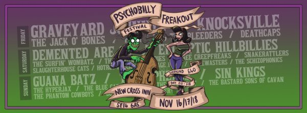 Psychobilly Freakout Festival at New Cross Inn promotional image