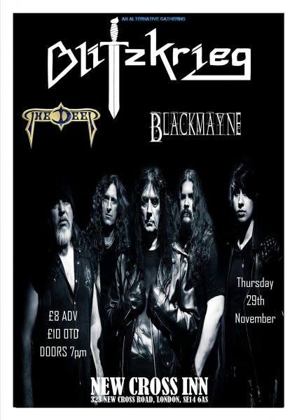 Blitzkrieg with The Deep & Blackmayne (NWOBHM) at New Cross Inn promotional image