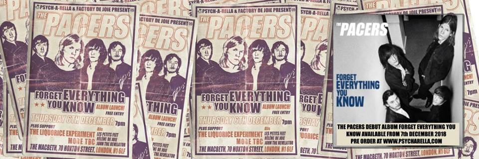 The Pacers album launch night - Free entry! at The Macbeth promotional image