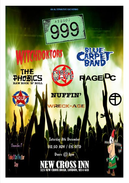 999 / Witchdoktors / The Blue Carpet Band + Many More at New Cross Inn promotional image