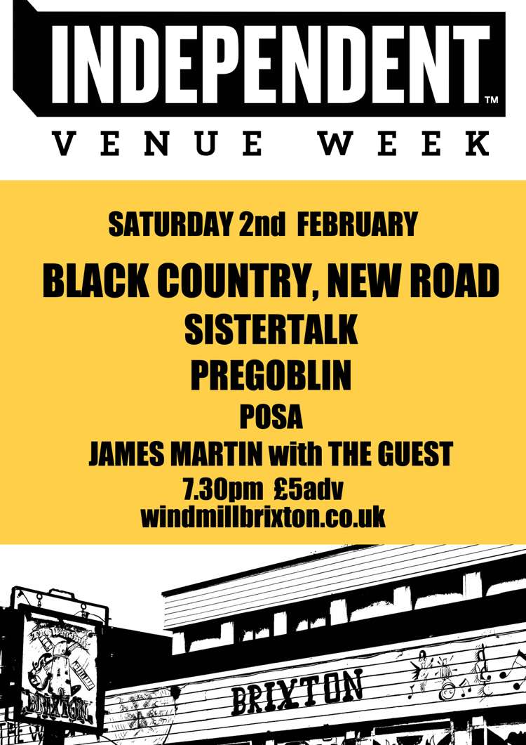 #IVW19 Day 6: Black Country, New Road + Sistertalk + POSA  at Windmill Brixton promotional image