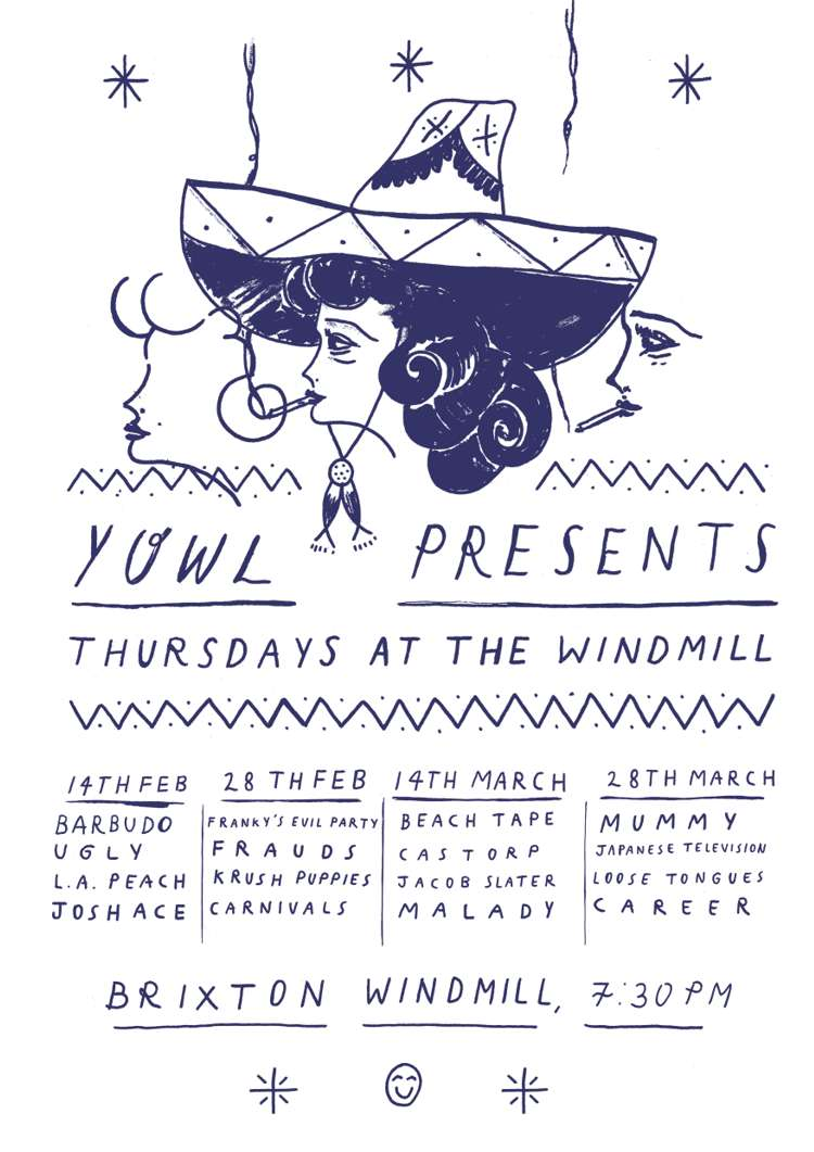 Beachtape, Castorp,  Jacob Slater, Malady  at Windmill Brixton promotional image