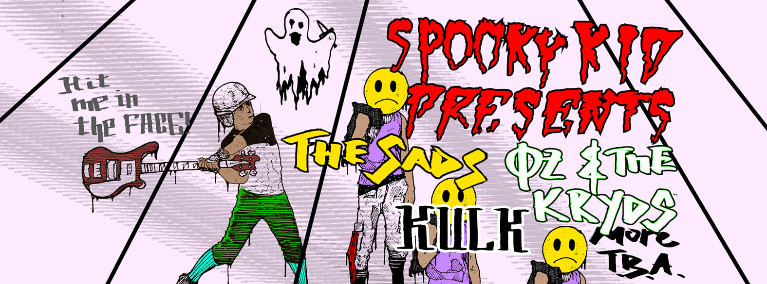 Spooky Kid Presents: The Sads, Oz & The Kryds + Kulk + Guests at The Fiddler's Elbow promotional image