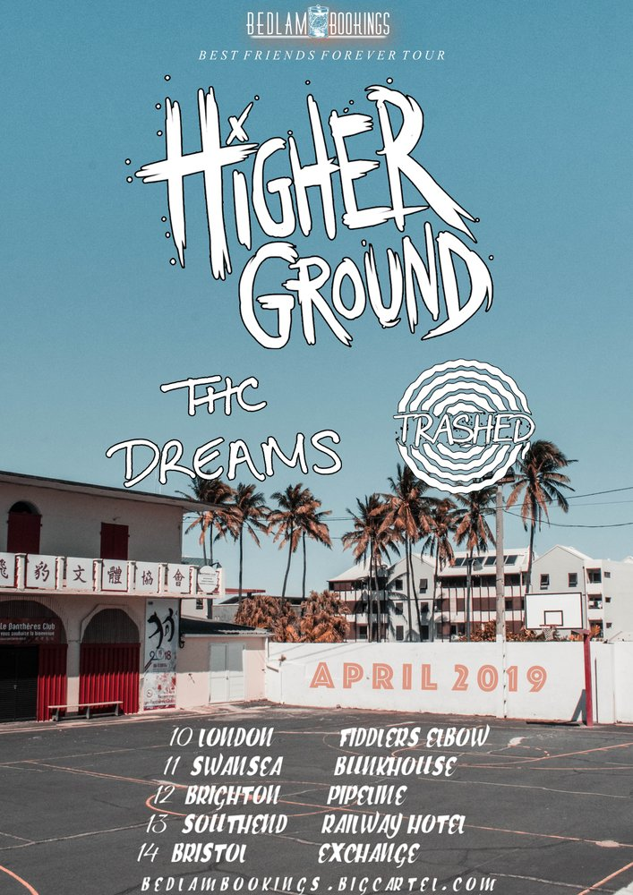 HIGHER GROUND, THC DREAMS & TRASHED TOUR at The Fiddler's Elbow promotional image