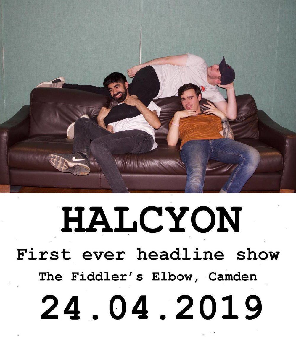 ROCK - Halcyon + A Choir Of Ghosts + Gypo Circus + Vanity Tapes at The Fiddler's Elbow promotional image