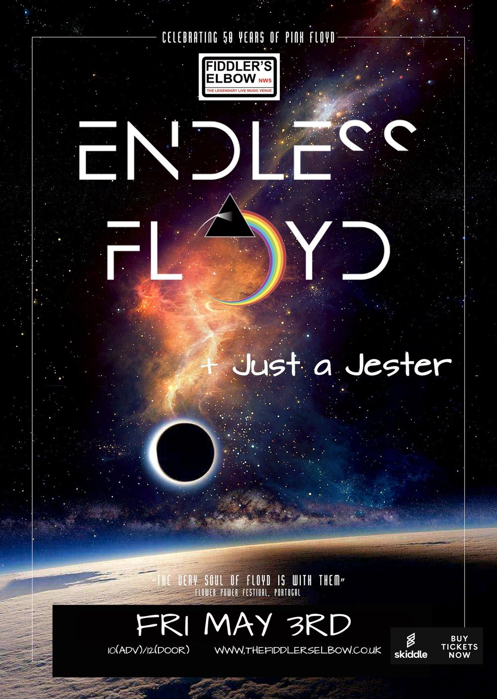 Pink Floyd tribute, ENDLESS FLOYD  at The Fiddler's Elbow promotional image