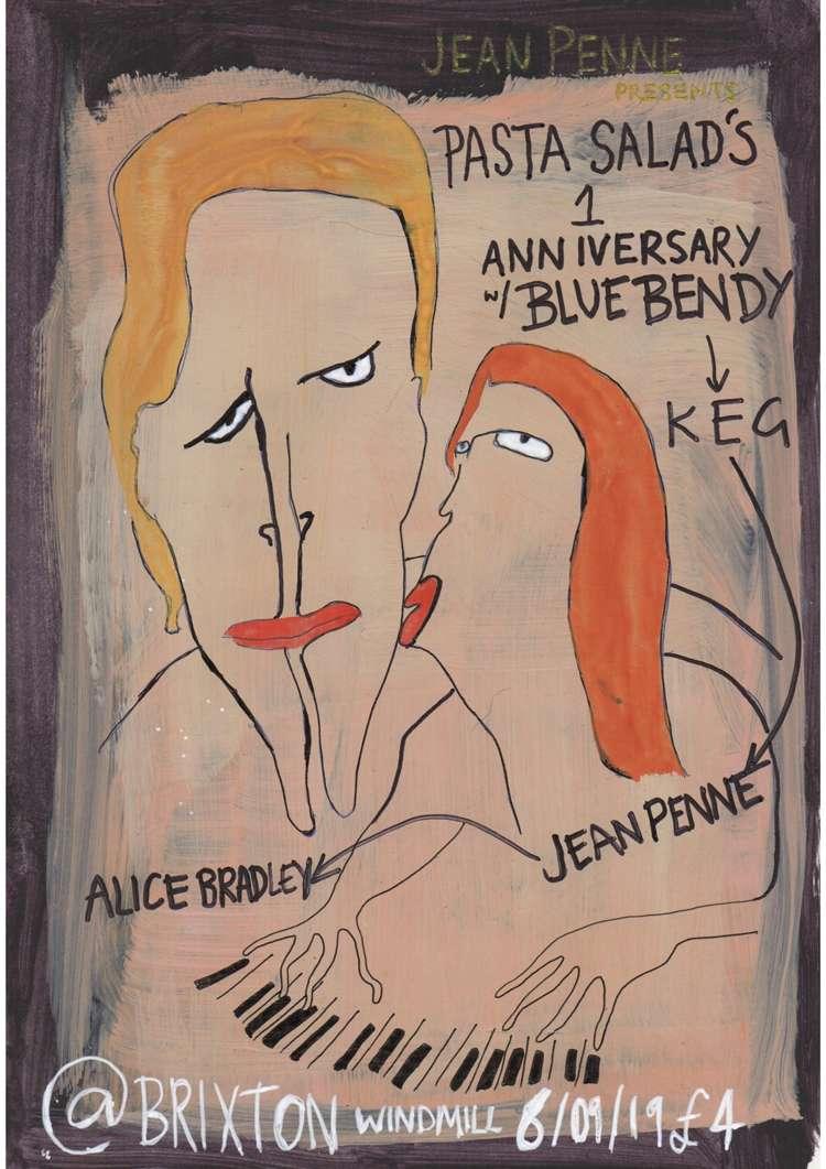 Blue Bendy, Jean Penne, Keg, Alice Bradley  at Windmill Brixton promotional image