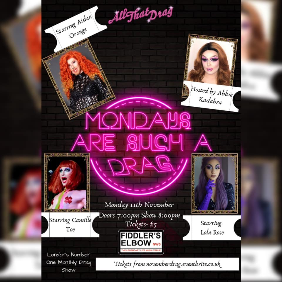 All That Drag! at The Fiddler's Elbow promotional image