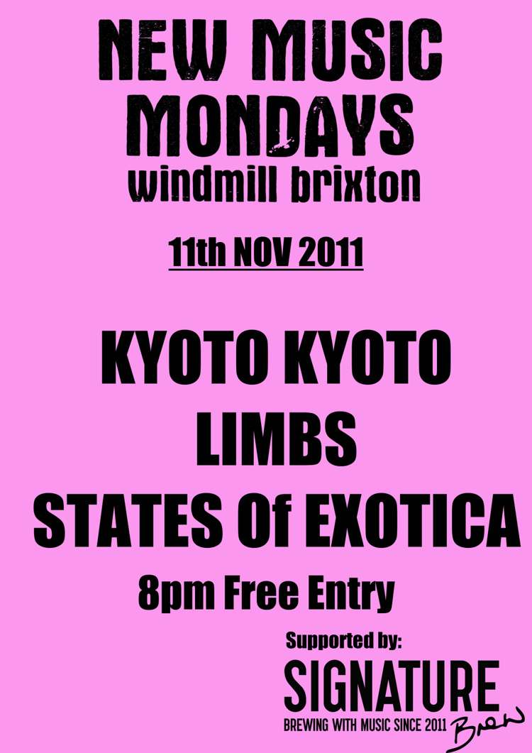 New Music Monday: Kyoto Kyoto, Limbs, States of Exotica  at Windmill Brixton promotional image