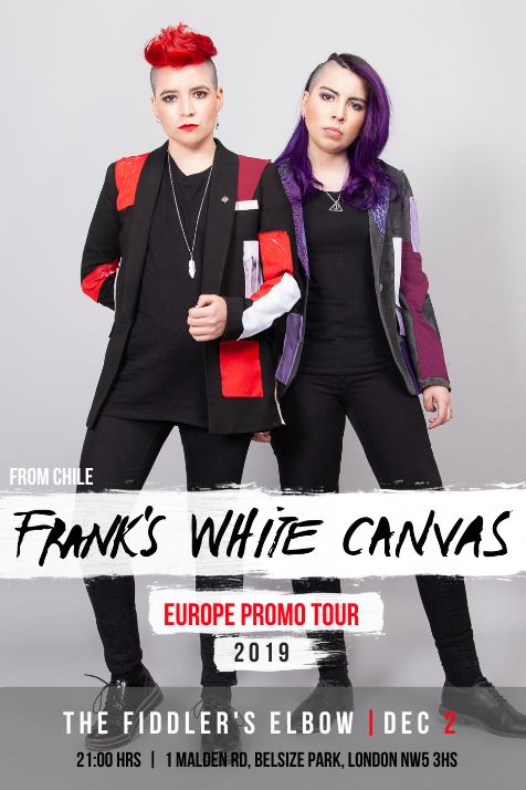 Frank's White Canvas (Chile) + Matt V + Guests at The Fiddler's Elbow promotional image