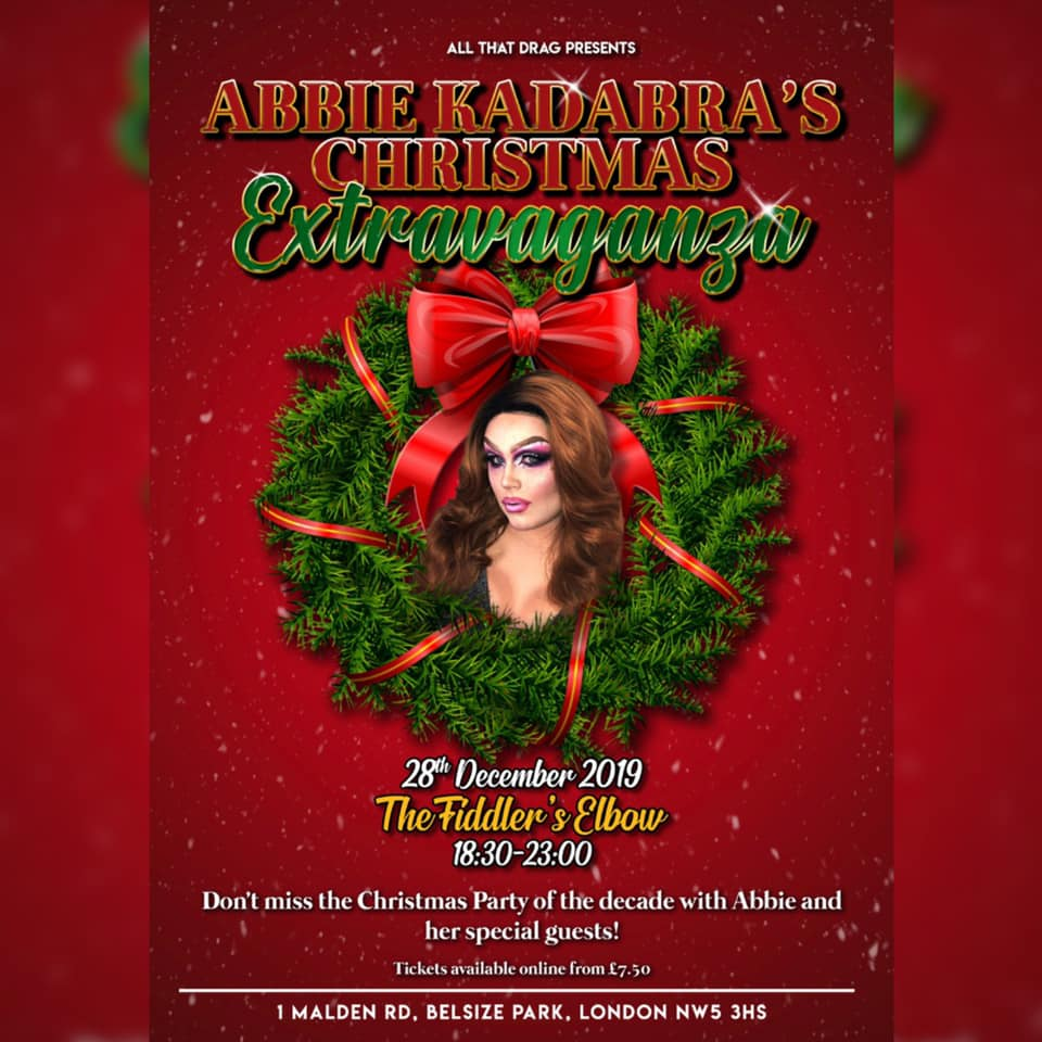 Abbie Kadabra's Christmas Extravaganza at The Fiddler's Elbow promotional image