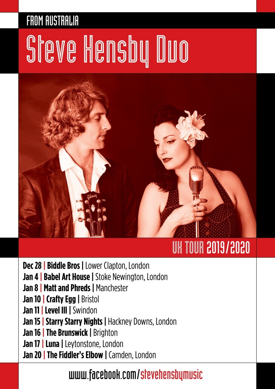 The Steve Hensby Duo + Helen Shanahan at The Fiddler's Elbow promotional image