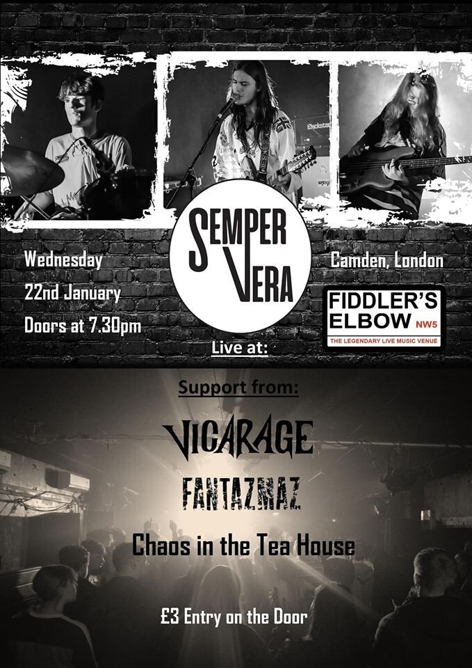 Semper Vera UK Tour  at The Fiddler's Elbow promotional image