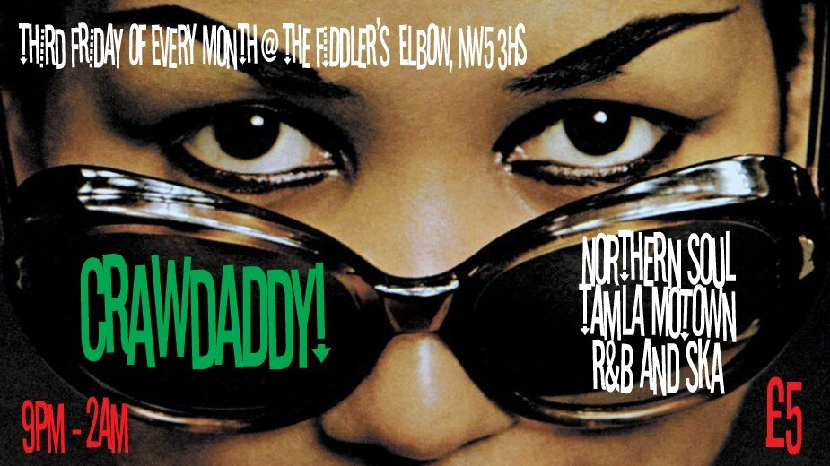 Crawdaddy! with guest DJ Terry 'Record Corner' Davis at The Fiddler's Elbow promotional image