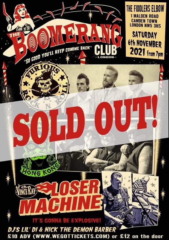 SOLD OUT at The Fiddler's Elbow promotional image