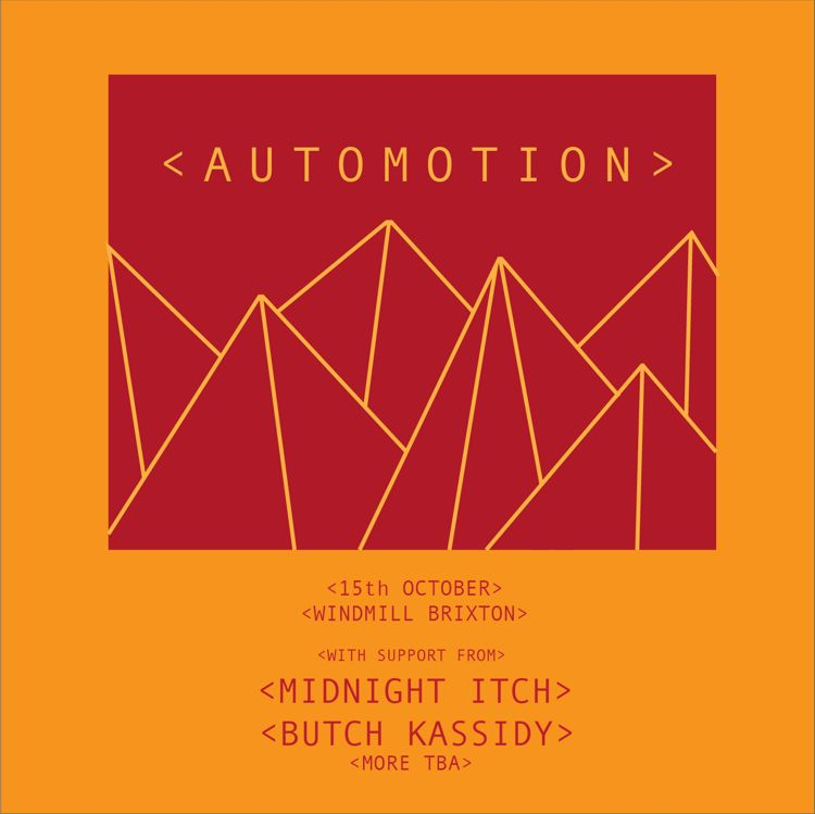 Automotion, Midnight Itch, Butch Kassidy, Sunken  at Windmill Brixton promotional image
