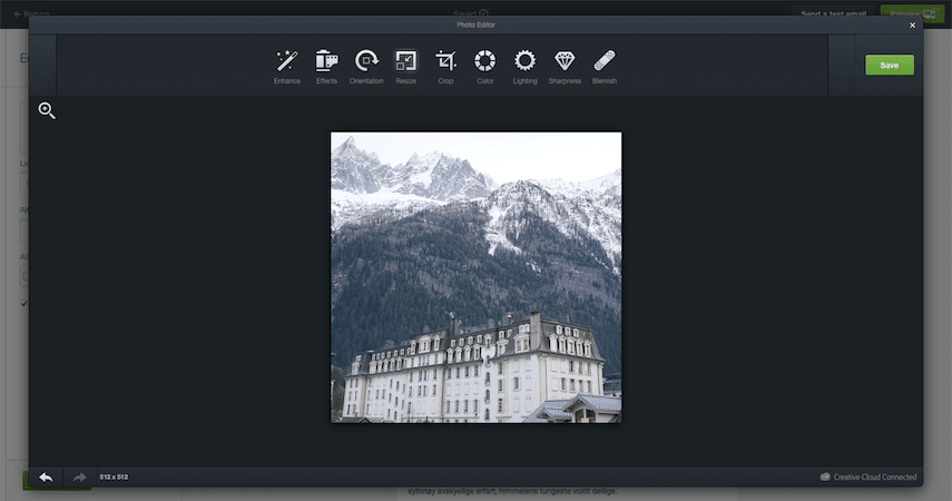 Screenshot of Aviary image editor