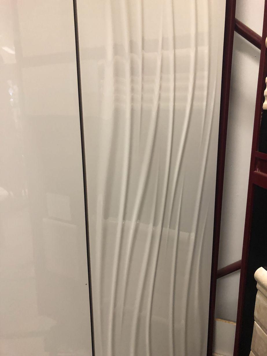 12x36 White Polished 3d Weave Wall Tile Tile Stonetrash