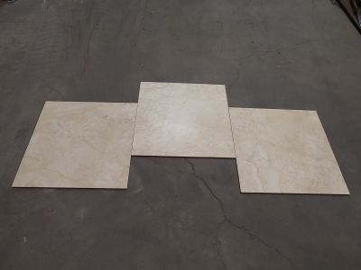 brown, tan, white, beige porcelain 22x22 Elegance Crema