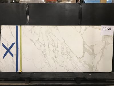 gray, white marble Calacatta (Honeycombed)