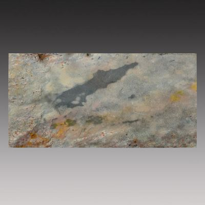 gray, green, orange slate Indian Autumn Peel & Stick Tile