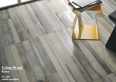 "gray, tan, beige porcelain Fioranese Urban Wood, Grey: 6""x36"" by ceramica fioranese"