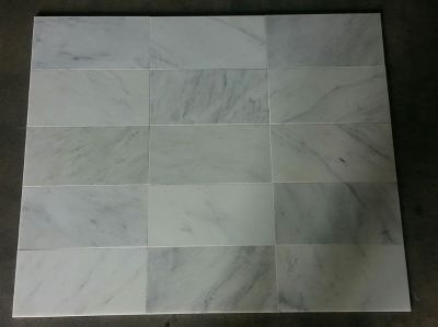 gray, white stone Calacatta White Honed Beveled