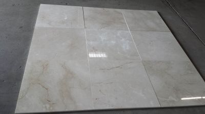 brown, gray, tan stone Crema Marfil Polished