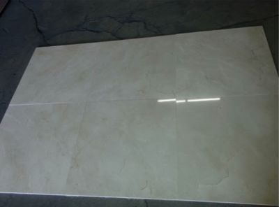 brown, gray, tan stone Crema Marfil Semi-Select Polished