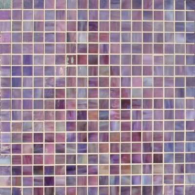 blue, gray, tan, white, pink, purple glass Mosaic