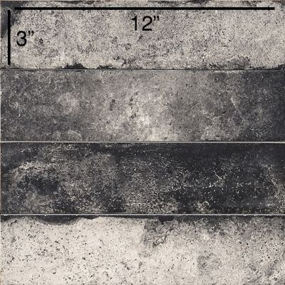 "black, gray ceramic Coem Bricklane, Nero: 3""x12"" by ceramiche coem"