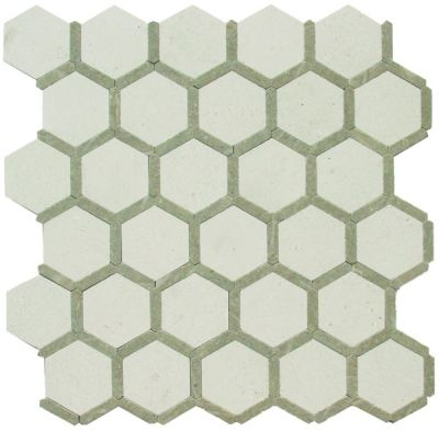 gray, green marble SSH-257-1 Hampton Blend Honeycomb Polished Mosaic by soci