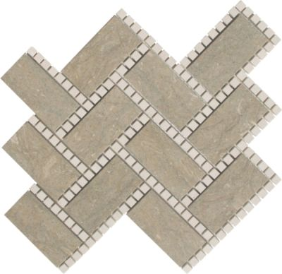 brown marble SSH-258 Manhattan Pattern Hampton Blend Polished Mosaic by soci