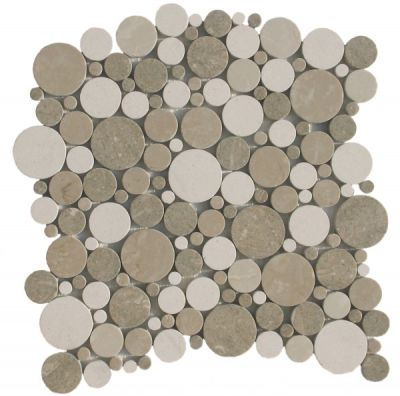 brown marble SSH-263 Nantucket Blend Bubbles Polished Mosaic by soci