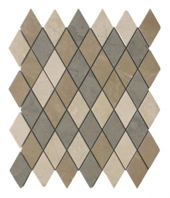 gray, tan marble SSH-265 Tweed Blend Harlequin Polished Mosaic by soci