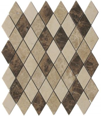 brown, tan marble SSH-266-1 Morocco Blend Harlequin Polished Mosaic by soci